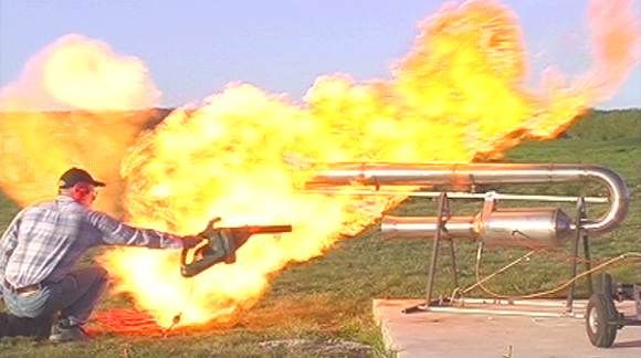 Testing jet engines can be hot work